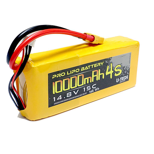 U-TECH PRO 10000mAh 4S 14.8V 15C LiPo Battery