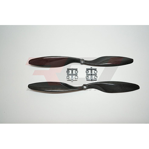 11x4.7 GemFan Carbon Fiber Propellers Pair (cw-ccw) -Slow fly