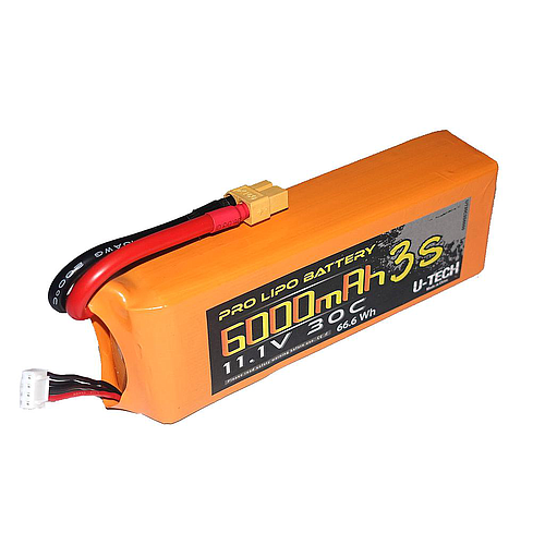 U-TECH PRO 6000mAh 3S 11.1V 30C LiPo Battery