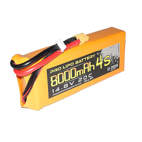 U-TECH PRO 8000mAh 4S 14.8V 20C LiPo Battery
