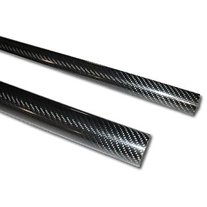 3K Carbon fiber tube 16x14,5x1000mm. Matt finish