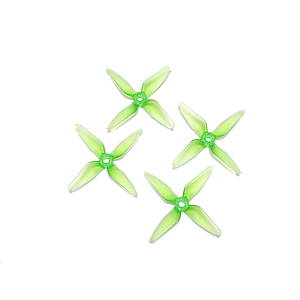 RaceKraft 3041 4 blade props clear green (2 pairs)
