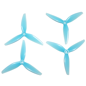 HQ Durable Prop  5x4.5X3 V1S Tri-blade Light Blue (2 pairs )