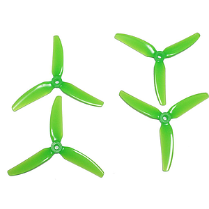 HQ Durable Prop  5x4X3 V1 Tri-blade Light Green (2 pairs )