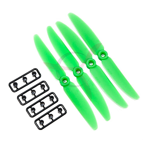 ABS multicopter propeller 6x30 CW/CCW green (2 pairs)