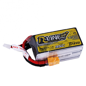 TATTU 1300mAh 5S 18.5V 95C Lipo Battery - R-Line