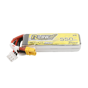 TATTU 550mAh 2S 7.4V 95C Lipo Battery R-Line